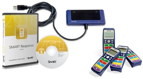 При покупке интерактивного комплекта SMART система голосования Response LE на 24 пульта в подарок!
